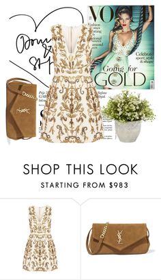 """""""Dresswe Reviews"""" by dresswereviews ❤ liked on Polyvore featuring Alice + Olivia and Yves Saint Laurent"""