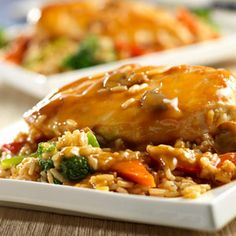 One Dish Chicken and Rice Bake - Recipe.com