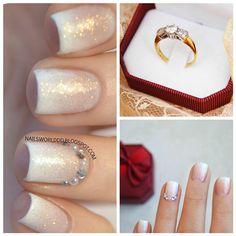 Bridal Nails  link in description  #nail #nails #mani #bridalnails #bridal #wedding #weddingnails #ring #nailart #nailcare #nailidea #nailsdid #nailshop #nailsbyme #elegantnails #nailsgram #nailsporn #nailslove #nailartist #nudenails #nailstyle #nailtutorial #fashion #fadedfrench #νυχια #μανικιούρ #greekbloggers #nailselfie #nailpolish #nailaccount