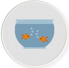 FREE for June 23rd 2014 Only - Fish Bowl Cross Stitch Pattern