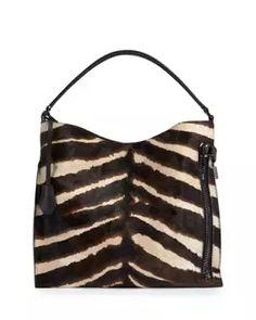 V3FN6 TOM FORD Alix Small Zebra Hobo Bag