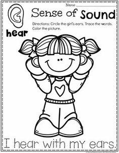 Preschool Coloring Page - Sense of Sound 5 Senses