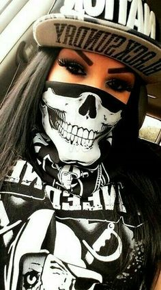 2020 The Most Creative And Special Mask Design - Gangsta Girl, Fille Gangsta, Chica Chola, Tattoo Gesicht, Estilo Cholo, Chola Girl, Catrina Tattoo, Thug Girl, Cholo Art