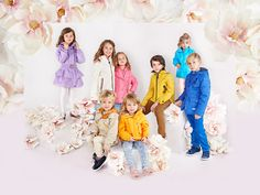 Katrina Tang Photography for Lenne SS 16. Studio shoot with kids, flower blossoms, kids clothing #katrinatang #tangkatrina