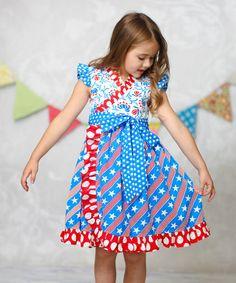 Another great find on #zulily! Star & Stripes Mischa Surplice Dress - Infant, Toddler & Girls #zulilyfinds