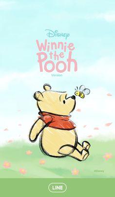 Winnie the Pooh [Line wallpaper]