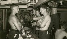 American submariners at table, 1944