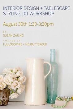 Susan Zaring Design Upcoming Workshop