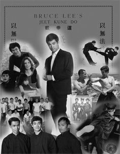 """Collage featuring Bruce Lee, Dan Inosanto, Linda Lee Cadwell and others from new book """"Bruce Lee: The Evolution of a Martial Artist"""" by Tommy Gong. Click on the image to watch a video with the author in which he discusses how the jeet kune do founder became --- and remains --- one of the world's most influential martial artists. #blackbeltmagazine #brucelee #bruceleebooks #jeetkunedo #martialartshistory #jkd #tommygong #martialartsbooks"""