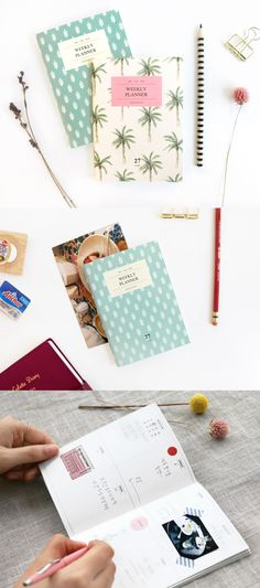 The Pattern A6 Weekly Planner is a beautiful planner made to help you with your weekly plans! Never miss any import events in a week by planning them all out in this wonderful planner! Each planner has a cute pattern cover, and small size makes it easy to carry it on daily basis!