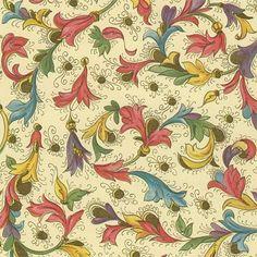 Papel italiano florentino clasico de flores