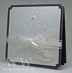 Mr Mrs versatile wedding card handmade blank inside Cards