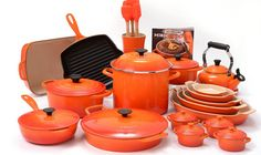 Buy this Le Creuset Flame 29 Piece Cookware Set with Bonus 2 Quart Round Dutch Oven with deep discounted price online today.