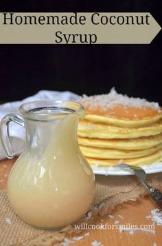 Homemade Coconut Syrup | from willcookforsmiles.com