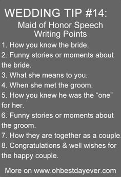 Top 20 Must Read Wedding Tips When Planning Your Big Day maid of honor speech writing points wedding tips Top 20 Must Read Wedding Tips When Planning Your Big Day maid of honor speech writing points wedding tips Wedding Planning Tips, Wedding Tips, Wedding Engagement, Our Wedding, Dream Wedding, Wedding Hacks, Wedding Stuff, Table Wedding, Speech For Wedding