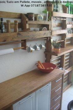 Para seu Cozinha , Decoraçao , porta de vinho , estante , de pallete / pallet