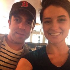 "Veggie Galaxy Server Natalie took a selfie at VG with BJ Novak, of ""The Office"" fame.  www.veggiegalaxy.com"