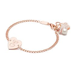Heart of Gold, Baby/Children's Engraved ID Bracelet - 14K Rose Gold