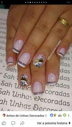 Spring Nails, Summer Nails, Beauty Nails, Diy Beauty, Gel Nail Designs, Flower Nails, Nail Art Galleries, Nail Arts, Toe Nails