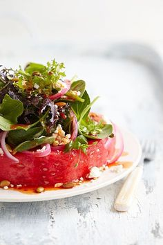 Watermelon Steak Salad