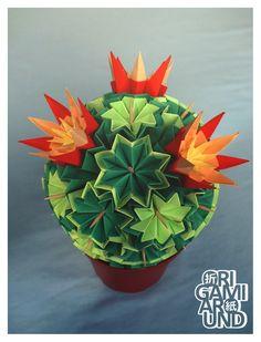 Venus kusudama cactus assembly. - origami around