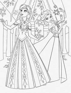 frozencoloringpages fun frozen coloring pages - Disney Coloring Pages Frozen