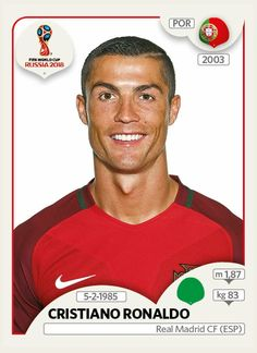 Cristiano Ronaldo - Portugal - Panini FIFA world cup Russia 2018 Uefa Football, Brazil Football Team, Football Tournament, Best Football Team, Sport Football, Football Icon, Cristiano Ronaldo Portugal, Fifa World Cup 2018, World Cup Teams