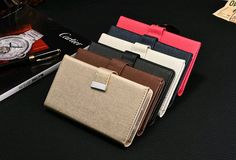 New Luxury PU Leather Magnetic Removable Detachable Wallet Card Flip Case Cover