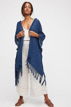 Point Breeze Hooded Kimono | Free People