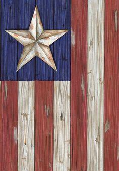 Americana Barn Star and Stripes Patriotic Decorative Mini Garden Flag 12 x 18   eBay