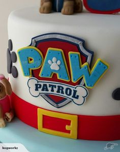 Paw Patrol Badge Logo Cake Topper | Trade Me