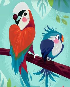 Here is a little piece that was commissioned by the Polynesian resort in Disney World. Has anyone visited recently? by britsketch Brittney Lee, Polynesian Resort, Disney Artists, Inspirational Artwork, Bird Drawings, Happy Wednesday, Magical Creatures, Disney Style, Bird Art