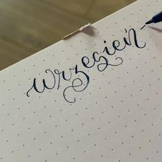 Sprawdz jak napisac slowo wrzesien Brush Lettering Bullet Journal Hand Lettering Tutorial, Calligraphy Alphabet, Brush Lettering, Bullet Journal, Instagram, Brush Script