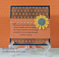 card by Brenda Rose using CTMH Dream Pop paper.... the embossed paper sponged with outdoor denim ink! (these papers make great 'resist' patterns)
