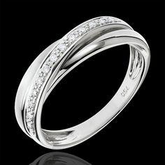 Anneau Trifolie or blanc (Bagues) : bijoux edenly