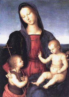 "Raphael: ""Diotalevi Madonna"",1503. (Staatliche Museen zu Berlin, Gemäldegalerie, Berlin, Germany.)"