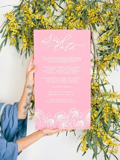 spring pink easter menu
