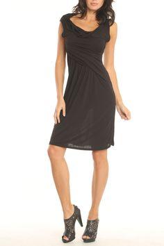 Draped Dress In Black http://www.beyondtherack.com/member/invite/B7C53751