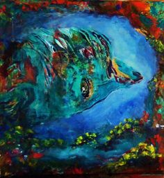 Hawaii-Baby Dolphin by Eva Margiewicz #acrylic #painting #art http://artf.in/PGbomg  @artfinder