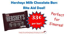 WOOHOO! Loving this deal! Head to Rite Aid to grab Hersheys Milk Chocolate Bars for only $0.33 each! Perfect for S'mores!  Click the link below to get all of the details ► http://www.thecouponingcouple.com/hersheys-milk-chocolate-bars-6-pack-only-0-33-per-bar/ #Coupons #Couponing #CouponCommunity  Visit us at http://www.thecouponingcouple.com for more great posts!
