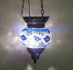 Moroccan, Lantern, Hanging Light, Turkish Lamp, Night Shade, Mosaic Glass h 057 #Handmade #Moroccan