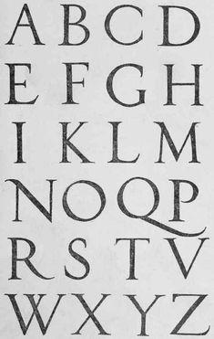 Italian Renaissance Alphabet - Sebastian Serlio