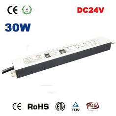 58.41$  Buy here - http://alicto.worldwells.pw/go.php?t=32715622928 - 5pcs/lot 30W 110V-240V to DC 24V IP67 Led Transformer Power Supply LED Driver Adapter for Christmas Strip Light Outdoor