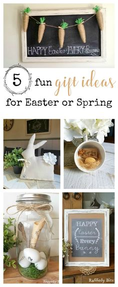 Easy easter hostess gift ideas wrapped gifts herbs and burlap 5 fun gift ideas for easter or spring negle Choice Image