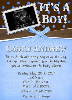 Sweet blue ultrasound shower card little boys photo brown nursery sweet blue ultrasound shower card little boys photo brown nursery baby pinterest ultrasound and babies filmwisefo
