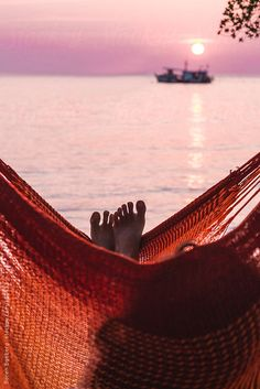 Relaxing in an hammock