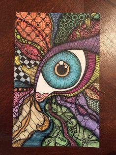 Zentangle postcard