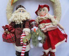 Guirlanda de Natal Papai e Mamãe Noel                                                                                                                                                                                 Mais