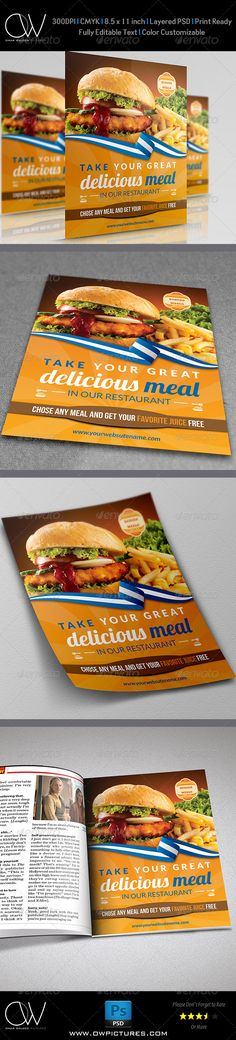 Burger Restaurant Flyer Template - Restaurant Flyers
