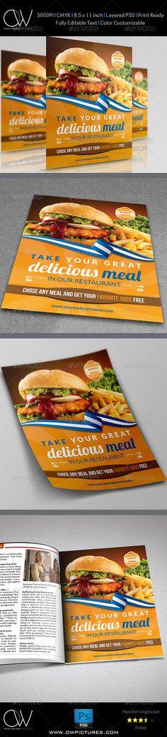 Burger Restaurant Flyer Template - Restaurant Flyers